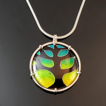 Tree Cloisonné Enamel Pendant by Laura Bracken (Available for Free U.S. Shipping or Local Pick-Up)