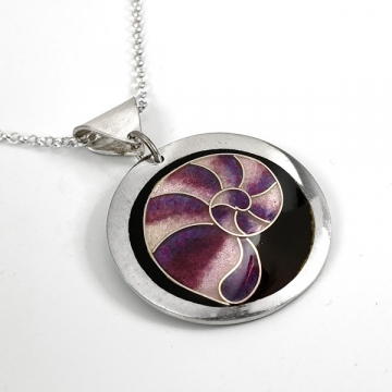 Purple Nautilus Cloisonné Enamel Pendant by Laura Bracken (Available for Free U.S. Shipping or Local Pick-Up)