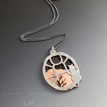 Kitty in the Window Pendant by Laura Bracken (Available for Free U.S. Shipping or Local Pick-Up)