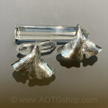 Ginkgo Leaf Sterling Silver Earrings by Meg Black-Smith (Available for Shipping or Local Pick-Up)