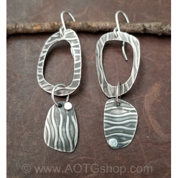 Abstract Hoop Earrings Handmade by Stacey Lamothe (Available for Shipping or Local Pick Up)