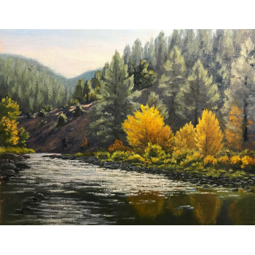 """""""E. Carson Silver"""" Original Oil Painting by Jane Welles (Available for Shipping or Local Pick-Up)"""
