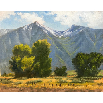 Blue Mountains - Carson Valley, Original Oil Painting by Jane Welles (Available for Shipping or Local Pick-Up)