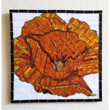 California Poppy Mosaic by KayLynn Sanderson (Local Pick-Up Only)