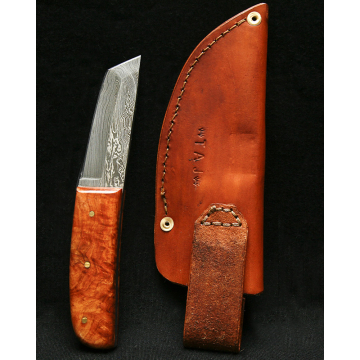 Damascus Tanto Knife by Todd Juchau (Available for Shipping or Local Pick-Up)