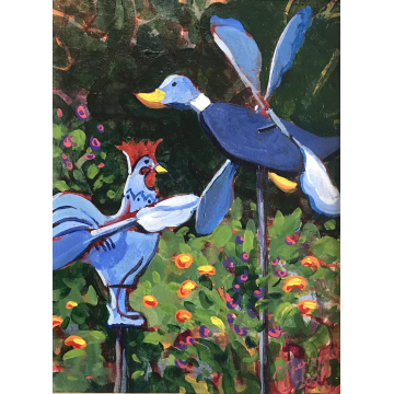 """""""Just Wingin' It"""" Original Acrylic by Patty Pieropan Dong (Available for Shipping or Local Pick-Up)"""