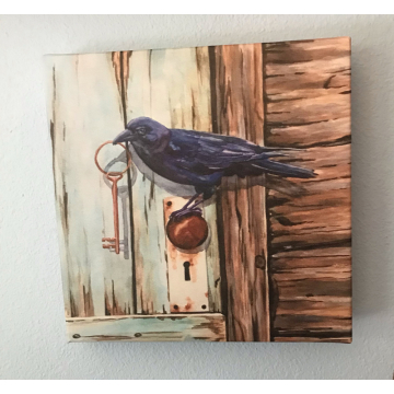 """""""Keeper of the Key"""" Canvas Print of a Watercolor Painting  by Diane Tharp (Available for Shipping or Local Pick-Up)"""