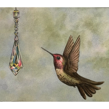 """""""Bedazzled"""" Original Watercolor by Diane Tharp (Available for Shipping or Local Pick-Up)"""