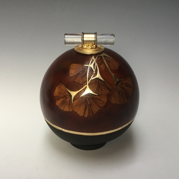 Simple Multi Leafed Ginkgo Gourd by Louise McGowan Bezark (Local Pick-Up Only)
