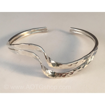 Double Wave Bracelet in Sterling Silver by Meg Black-Smith (Available for Shipping or Local Pick-Up)