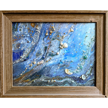 Ever Calming Original Mixed Media by Don Antram (Available for Shipping or Local Pick-Up)