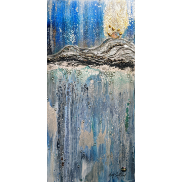 Sunrise Original Mixed Media by Don Antram (Available for Shipping or Local Pick-Up)