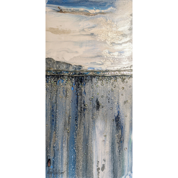 Ocean Cliffs Original Mixed Media by Don Antram (Available for Shipping or Local Pick-Up)