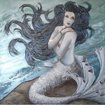 Goddess of the Sea - Embellished Giclee by Don Antram (Available for Shipping or Local Pick-Up)