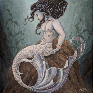 Caspian - Embellished Giclee by Don Antram (Available for Shipping or Local Pick-Up)