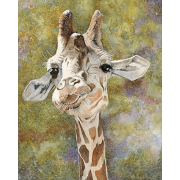 "Giraffe Giclée  Print on Paper ""TONGUE TIED"" by Sandy Delehanty (Local Pick-Up Only)"