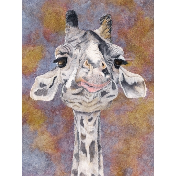 "Giraffe Giclee Print on Paper ""HOT LIPS""  by Sandy Delehanty (Local Pick-Up Only)"