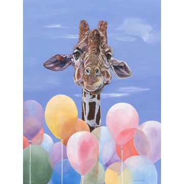 "Giraffe Giclee Print on Canvas ""RISING TO THE OCCASION"" by Sandy Delehanty (Available for U.S. shipping or Local Pick-Up)"
