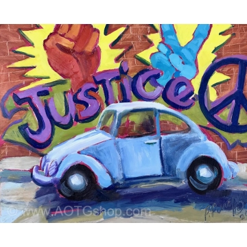 """Justice"" Original Oil Painting by Patty Pieropan Dong (Available for Shipping or Local Pick-Up)"