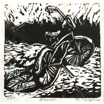 "Block Print ""Schwinn"" by Patty Pieropan Dong (Available for Shipping or Local Pick-Up)"