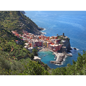 """""""High Above Vernazza"""" Giclée Print on Canvas by Darlene Riel (Available for Shipping or Local Pick-Up)"""
