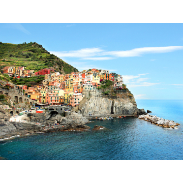 """Manarola"" Giclée Print on Canvas by Darlene Riel (Available for Shipping or Local Pick-Up)"