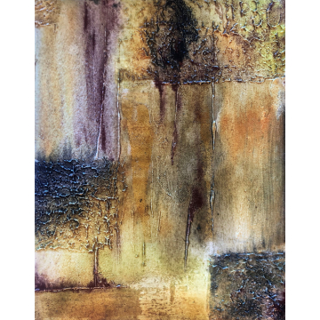 Subliminal - Abstract Mixed Media - Original Abstract by Gia McNutt (Available for Shipping or Local Pick-Up)