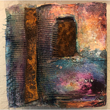"""""""Ancient Gateway"""" Original Mixed Media by Gia McNutt (Available for Shipping or Local Pick-Up)"""