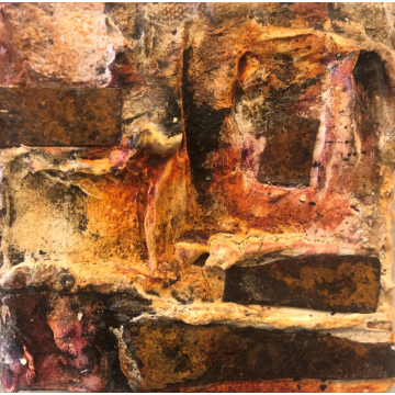 """""""Rust Reveal"""" Original Mixed Media by Gia McNutt (Available for Shipping or Local Pick-Up)"""