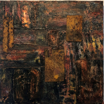 Crimson Copper Original Abstract by Gia McNutt (Available for Shipping or Local Pick-Up)