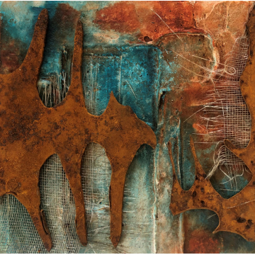 Azure Rust Original Abstract by Gia McNutt (Available for Shipping or Local Pick-Up)