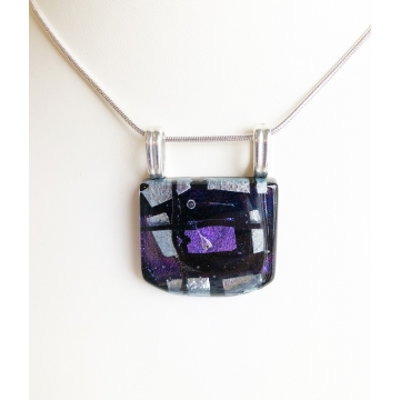 Fused Glass Pendant in Black by Judy Butler (Local Pick-Up Only)