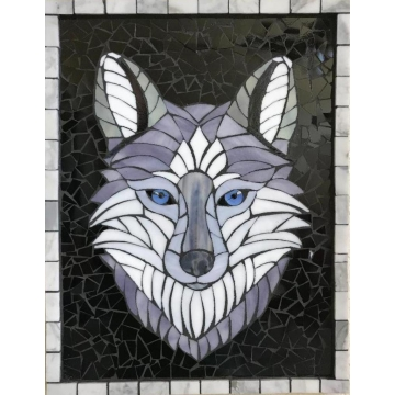 Gray Wolf Mosaic by KayLynn Sanderson (Local Pick-Up Only)