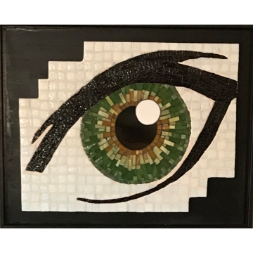 Green Eye Mosaic by KayLynn Sanderson (Local Pick-Up Only)