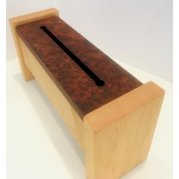 Tibetan-Style Incense Box with Redwood Lace Burl Top by Jane Markham (Available for Shipping or Local Pick-Up)