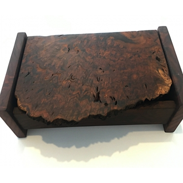 Live-Edge Claro Walnut Burl Treasure Box by Jane Markham (Available for Shipping or Local Pick-Up)