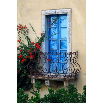"18 Inch Matted Photograph ""Sicilian Balcony"" by Darlene Riel (Available for Shipping or Local Pick-Up)"