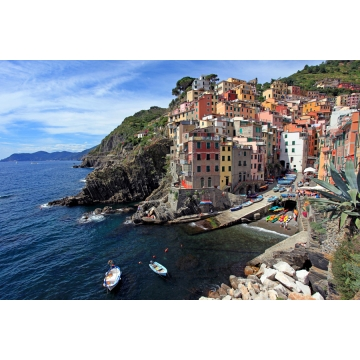 "18 Inch Matted Photograph ""Riomaggiore"" by Darlene Riel (Available for Shipping or Local Pick-Up)"