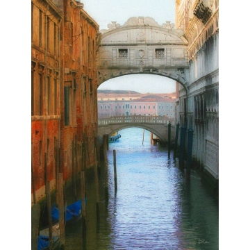 """The Bridge of Sighs"" Giclée Print on Canvas by Darlene Riel (Available for Shipping or Local Pick-Up)"