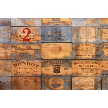 Wine Crates of St. Emilion Giclée Print on Canvas by Darlene Riel (available for shipping or local pick-up)