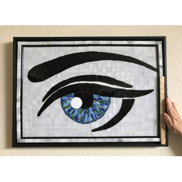 """Blue Eye Two"" - Mosaic by KayLynn Sanderson (Local pickup only)"