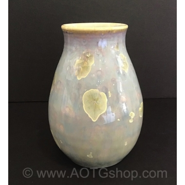 Flowering Crystals Crystalline Glaze Vase by Shoshana Bilunos (Available for Shipping or Local Pick-up)
