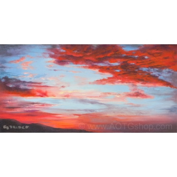 """Sunset in May"" Original Painting by Sylviane Giacoletto (local pick-up only)"
